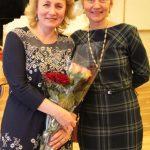 Mokytoja Virginija Visockienė su direktore Jolita Šlajiene